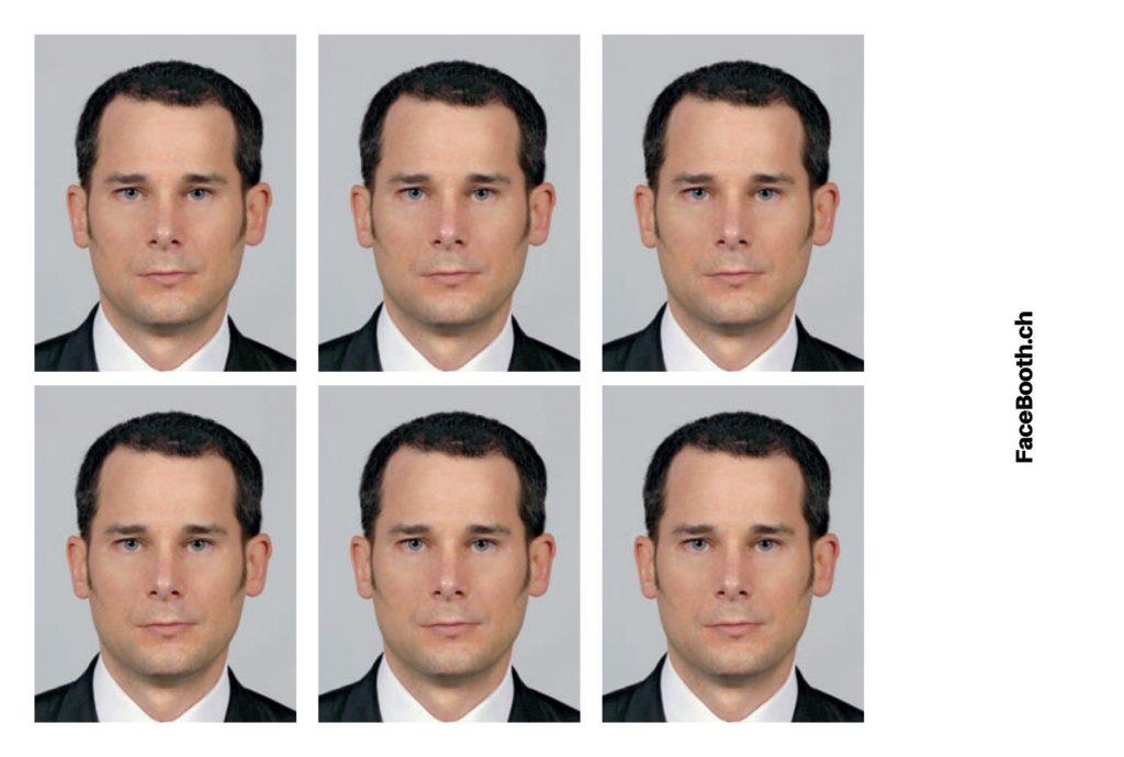 Exemple de photos passeport réalisées avec Facebooth.ch